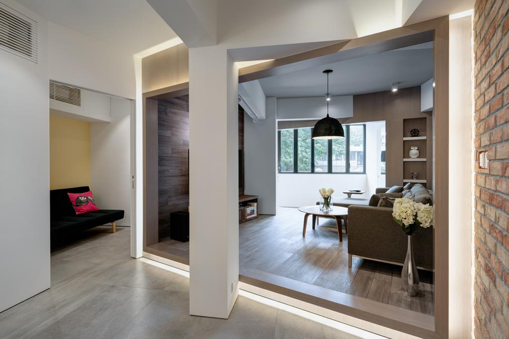 摩登, 私家樓, 客廳, 花園大廈, 室內設計師, in Him's Interior Design, Indoors, Interior Design, Window
