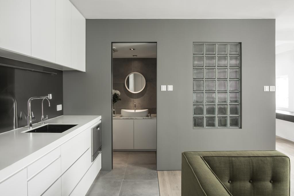 北歐, 私家樓, 廚房, HFC3, 室內設計師, in Him's Interior Design, Chair, Furniture, Sink