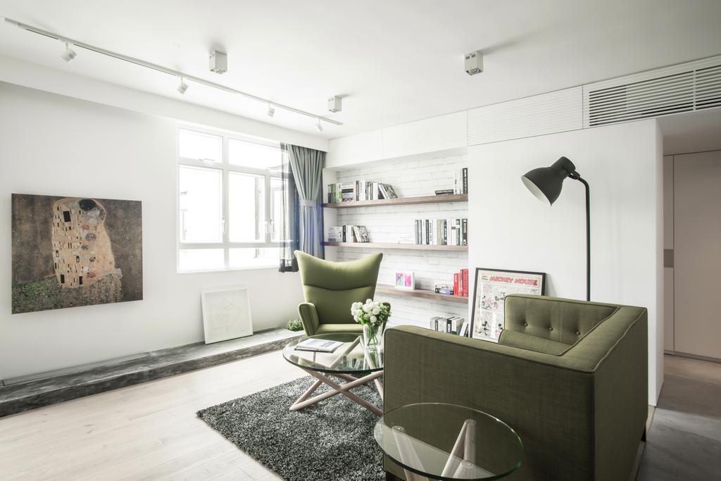 北歐, 私家樓, 客廳, HFC3, 室內設計師, in Him's Interior Design, Chair, Furniture