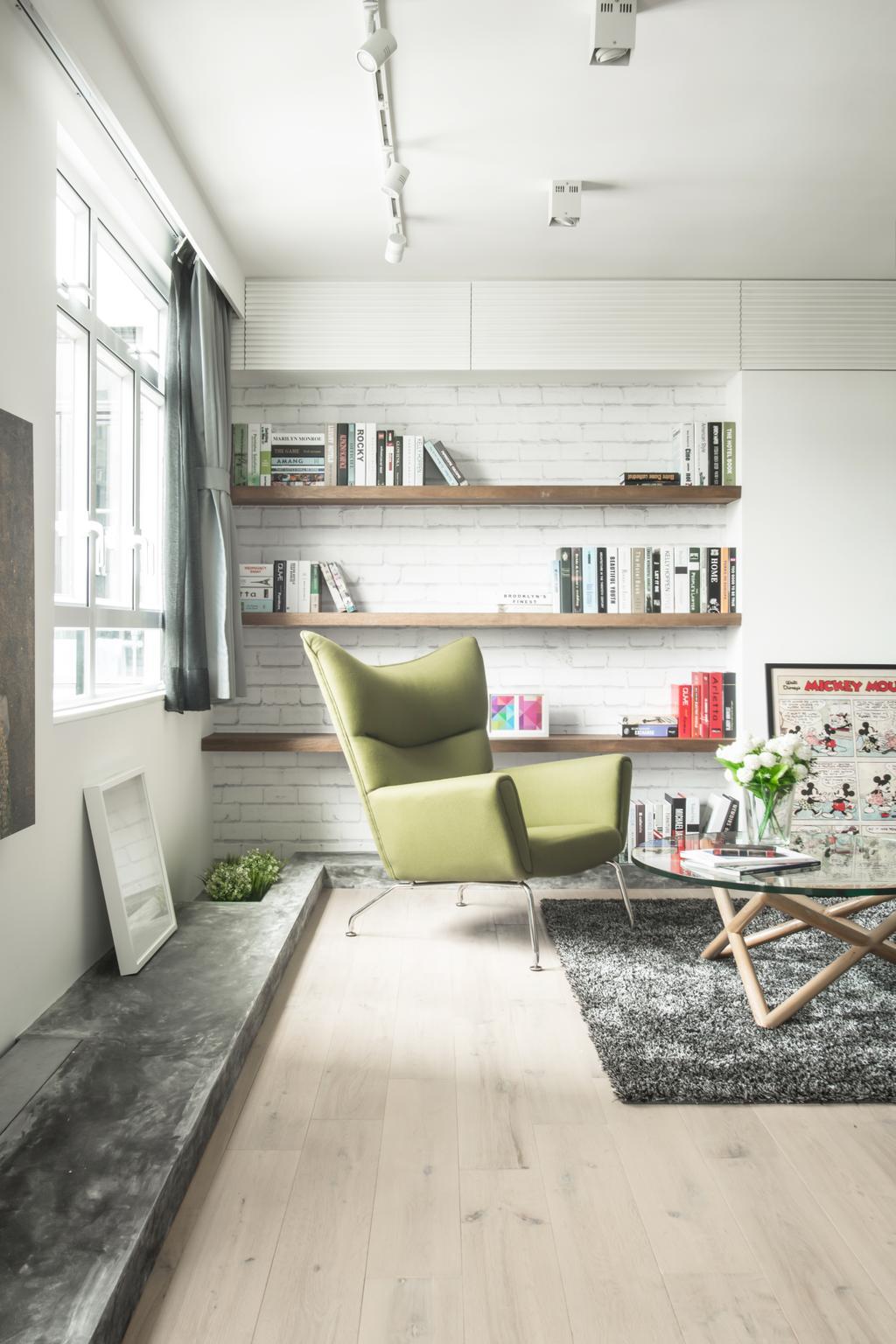 北歐, 私家樓, 客廳, HFC3, 室內設計師, in Him's Interior Design, Couch, Furniture, Chair, Flora, Jar, Plant, Potted Plant, Pottery, Vase, Indoors, Interior Design, Room