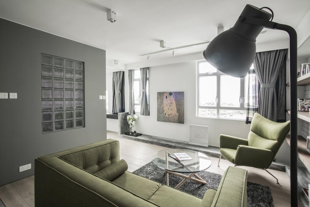 北歐, 私家樓, 客廳, HFC3, 室內設計師, in Him's Interior Design, Chair, Furniture, Couch