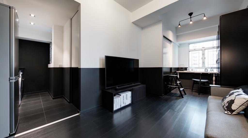 簡約, 私家樓, 客廳, 好順意大廈, 室內設計師, in Him's Interior Design, 過渡時期, Flooring
