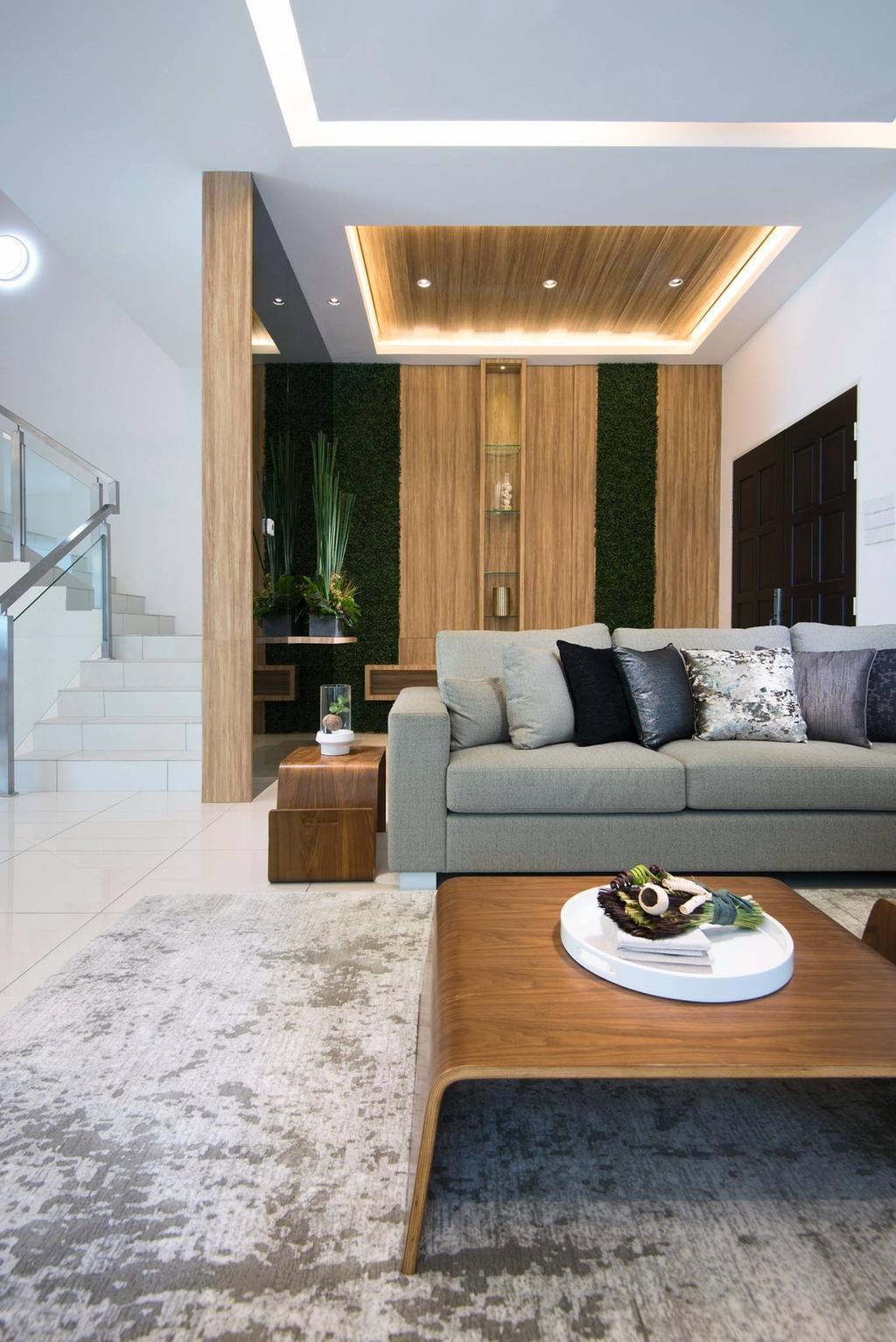 Landed, Batu Maung, Penang, Interior Designer, Nevermore Group, Flora, Jar, Plant, Potted Plant, Pottery, Vase, Couch, Furniture, Banister, Handrail