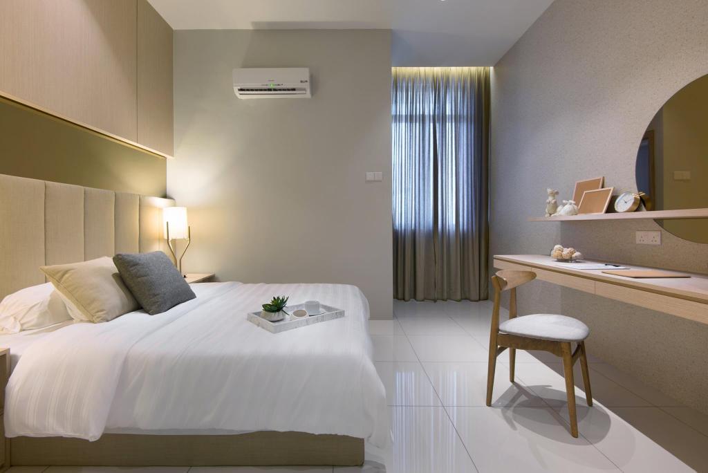 Landed, Bedroom, Batu Maung, Penang, Interior Designer, Nevermore Group, Indoors, Interior Design, Room, Chair, Furniture