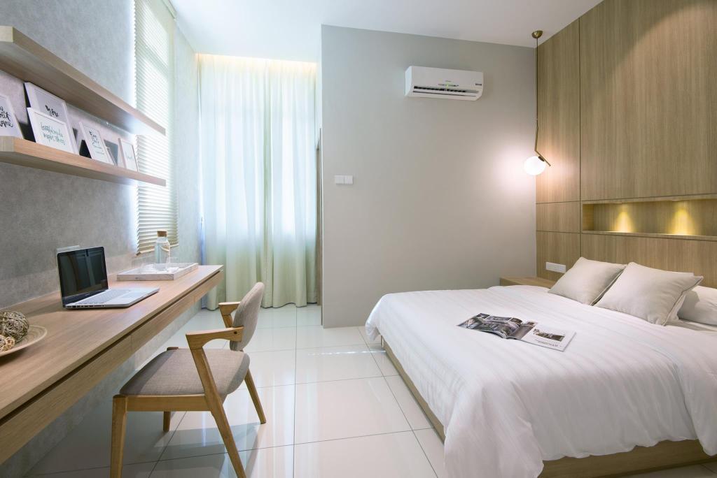 Landed, Bedroom, Batu Maung, Penang, Interior Designer, Nevermore Group, Chair, Furniture, Bed, Indoors, Room, Interior Design
