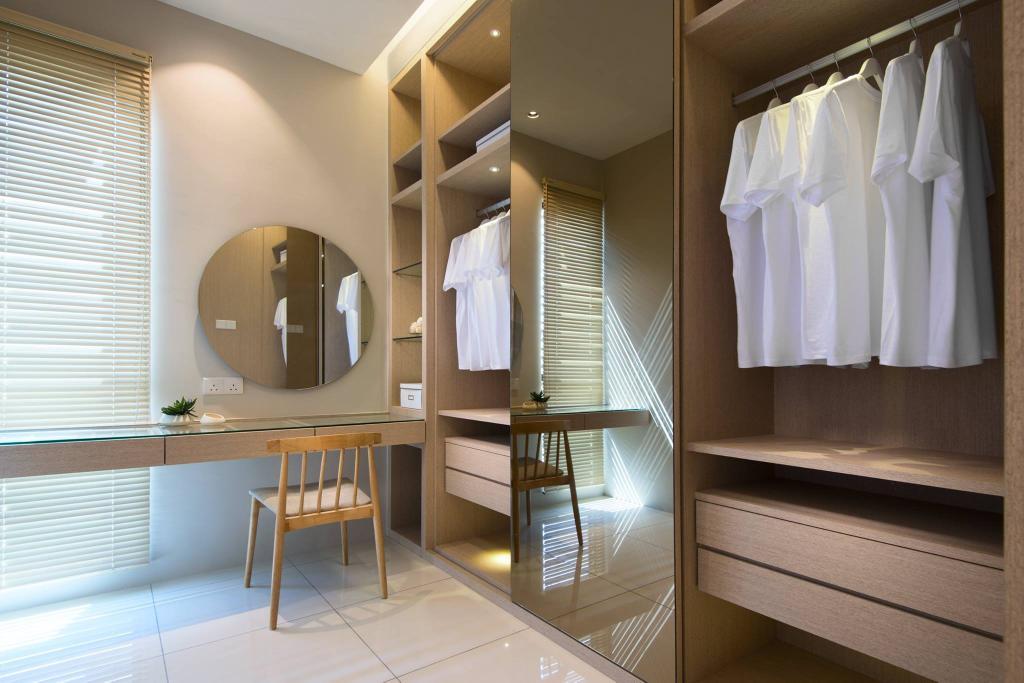 Landed, Bedroom, Batu Maung, Penang, Interior Designer, Nevermore Group, Dresser, Walk In Wardrobe, Wardrobe, Indoors, Interior Design, Dining Table, Furniture, Table