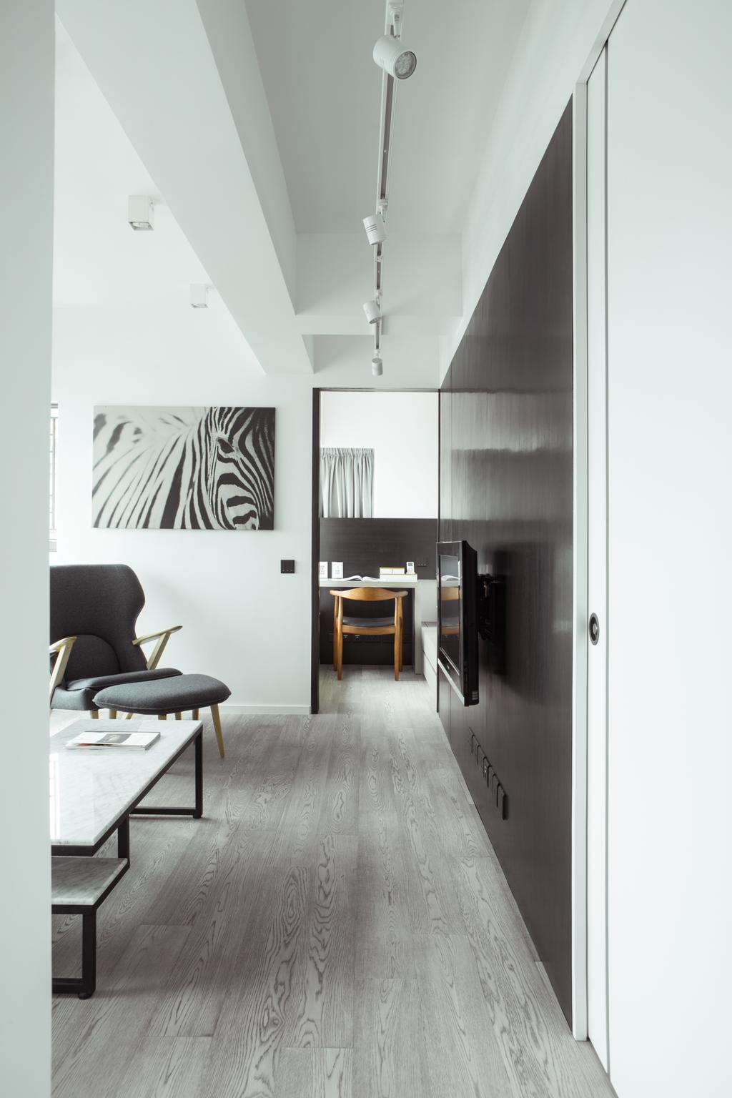 簡約, 私家樓, 客廳, 維港灣, 室內設計師, in Him's Interior Design, 北歐, Chair, Furniture