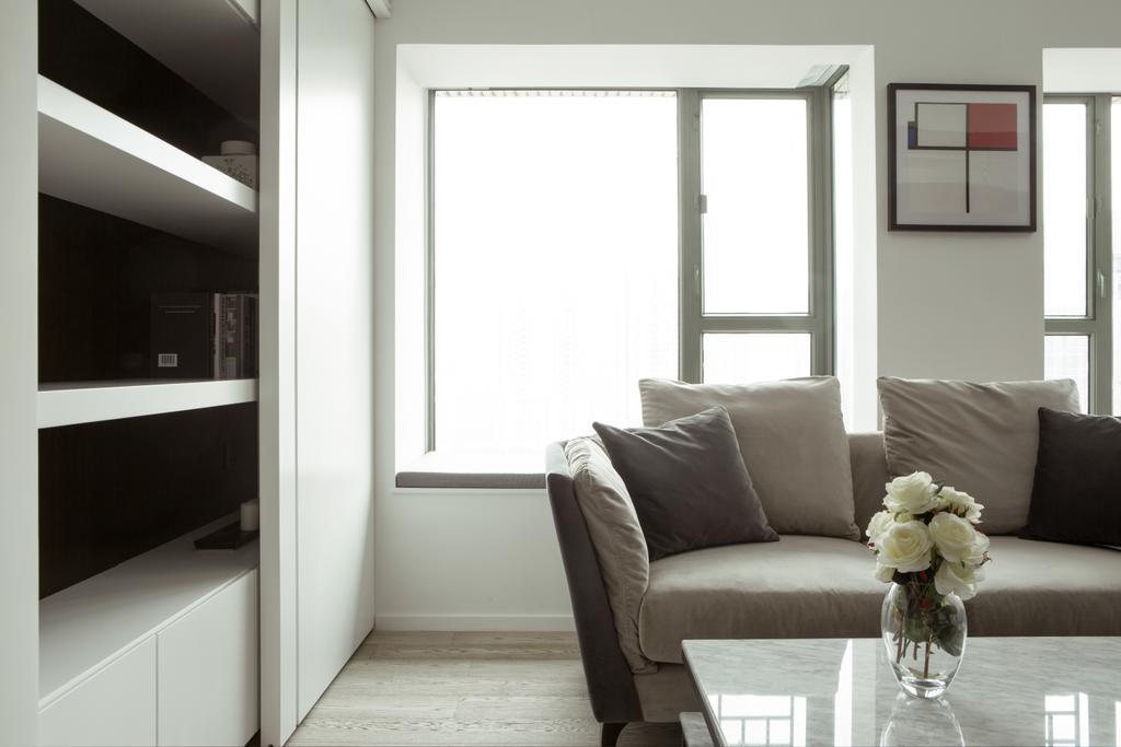 簡約, 私家樓, 客廳, 維港灣, 室內設計師, in Him's Interior Design, 北歐, Couch, Furniture, Chair