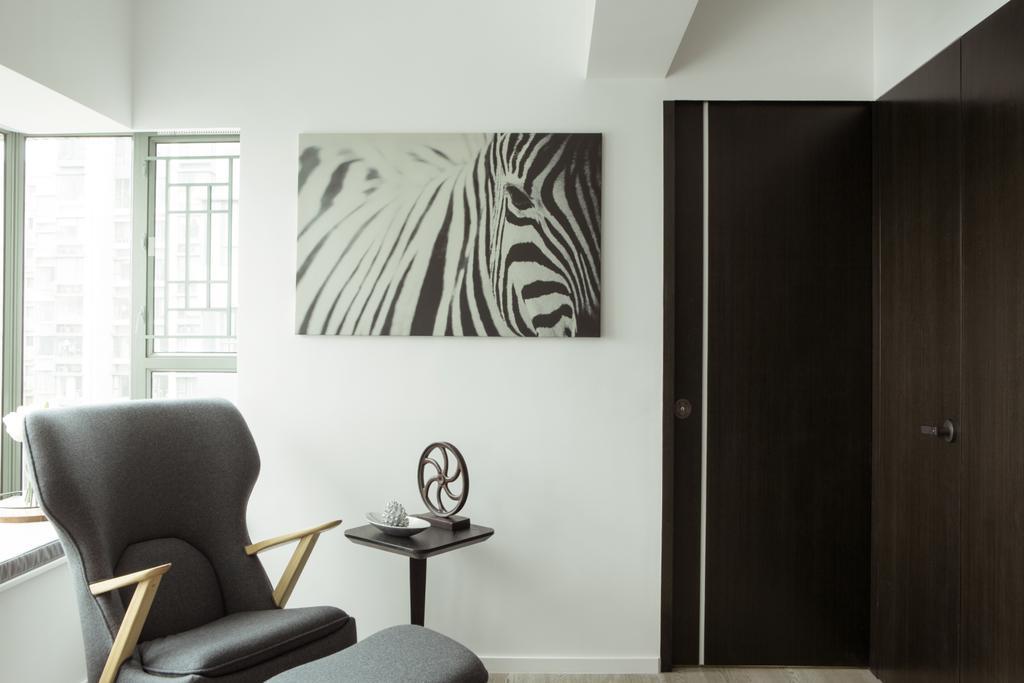 簡約, 私家樓, 客廳, 維港灣, 室內設計師, in Him's Interior Design, 北歐, Chair, Furniture, Closet, Wardrobe