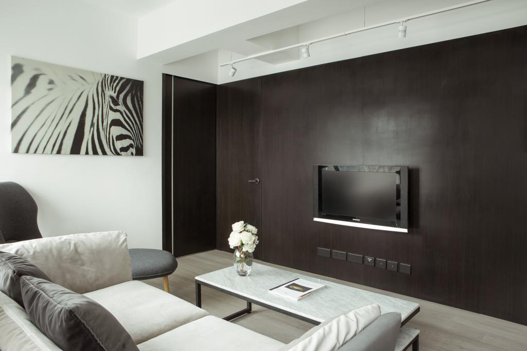簡約, 私家樓, 客廳, 維港灣, 室內設計師, in Him's Interior Design, 北歐, Couch, Furniture, Indoors, Room