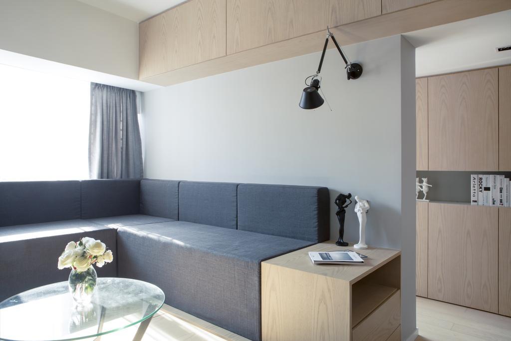 簡約, 私家樓, 客廳, 逸濤灣, 室內設計師, in Him's Interior Design, 摩登, Couch, Furniture