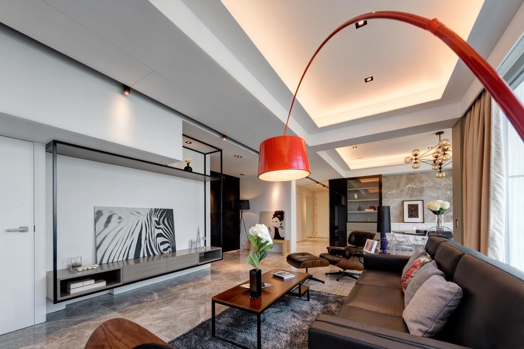 當代, 私家樓, 客廳, 溱岸8號, 室內設計師, in Him's Interior Design, 簡約, 北歐, Couch, Furniture, 公屋/居屋, Building, Housing, Indoors, Loft, Coffee Table, Table, Interior Design, Dining Table