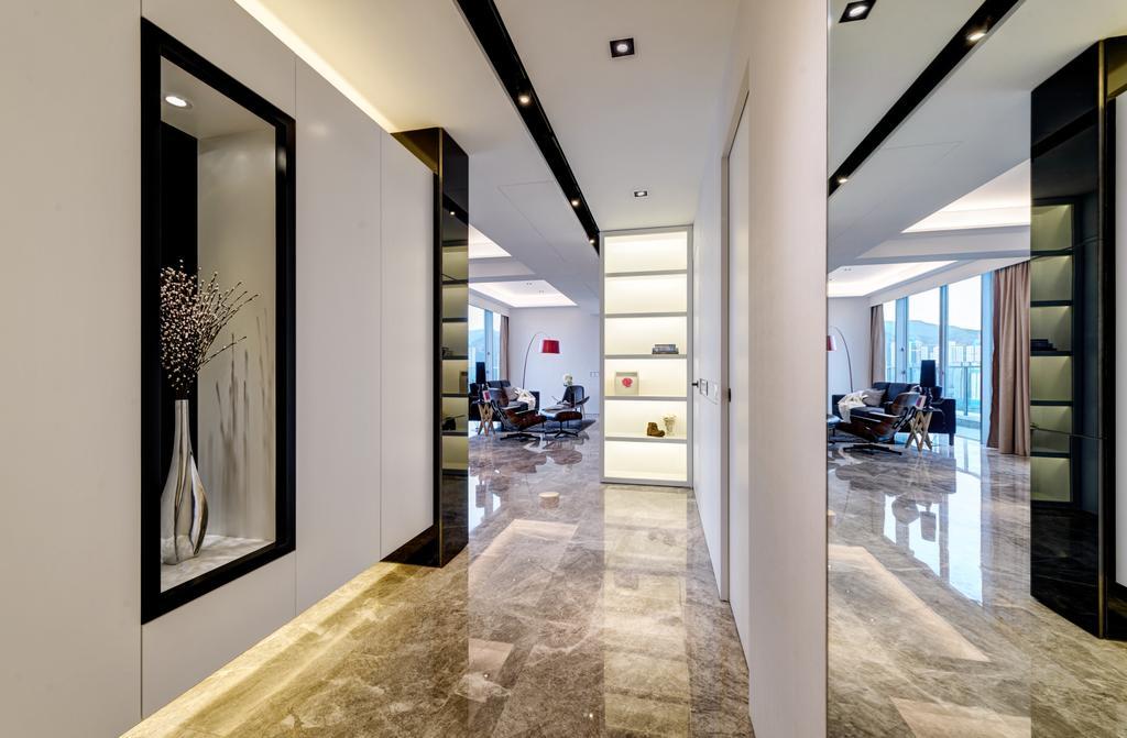 當代, 私家樓, 客廳, 溱岸8號, 室內設計師, in Him's Interior Design, 簡約, 北歐, Corridor