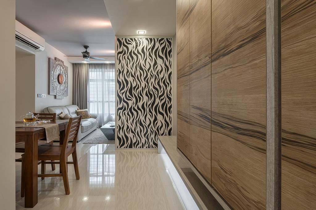 Modern, HDB, Dining Room, Edgefield Plains (Block 673C), Interior Designer, Weiken.com, Dining Table, Furniture, Table