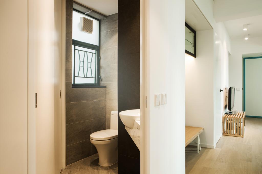 簡約, 私家樓, 浴室, 俊傑花園, 室內設計師, in Him's Interior Design, 北歐, Toilet, Flooring, Window, Indoors, Interior Design