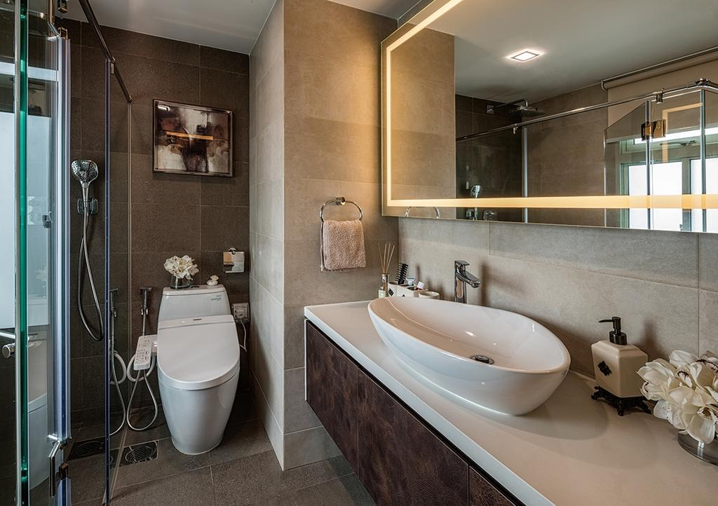 Transitional, Condo, Bathroom, Stirling Road, Interior Designer, Weiken.com, Indoors, Interior Design, Room, Sink