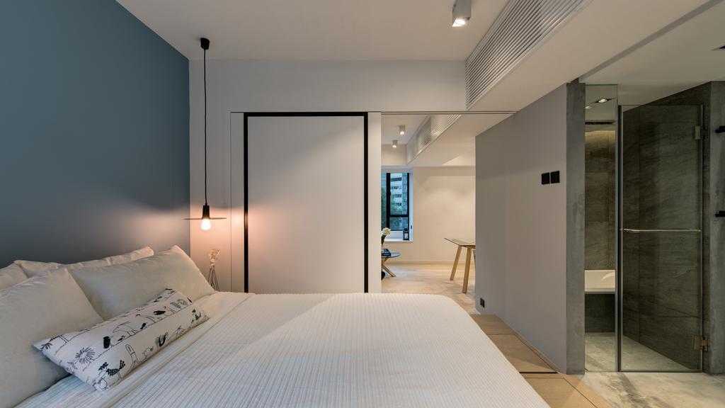 簡約, 私家樓, 睡房, 大坑道1號, 室內設計師, in Him's Interior Design, 當代, Indoors, Interior Design, Bed, Furniture, Room