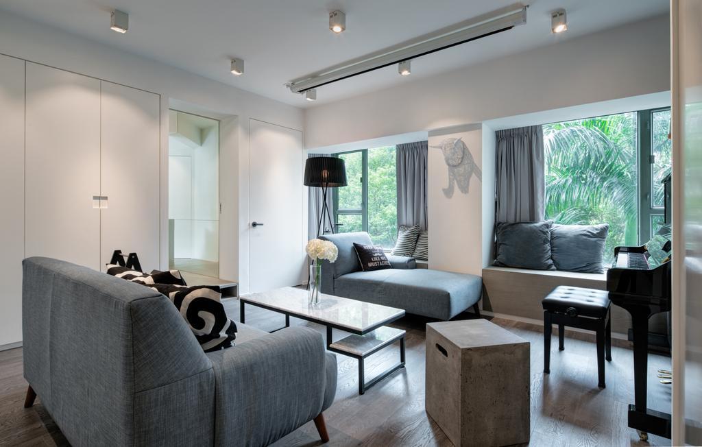 簡約, 私家樓, 海典居, 室內設計師, in Him's Interior Design, 北歐, Couch, Furniture, Indoors, Room, Interior Design