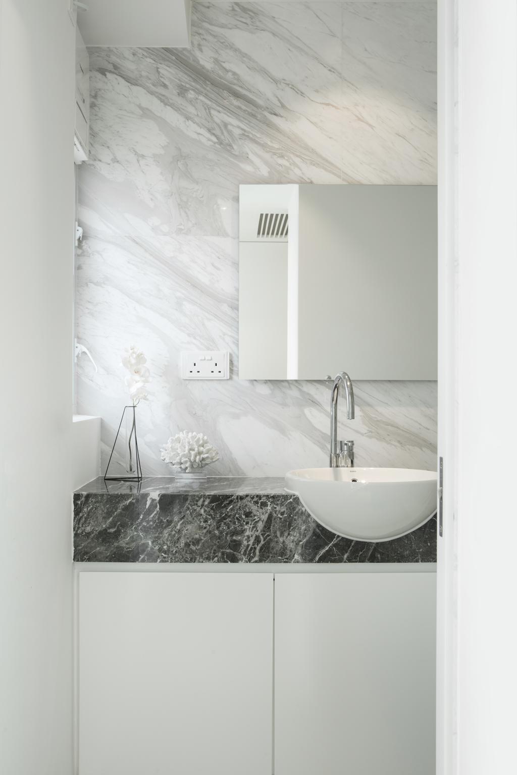 簡約, 私家樓, 浴室, 港麗豪園, 室內設計師, in Him's Interior Design, 北歐, Bathtub, Tub