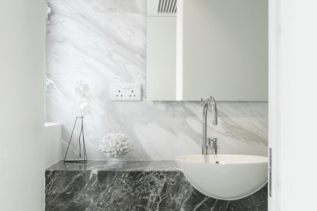 港麗豪園, in Him's Interior Design, 簡約, 北歐, 浴室, 私家樓, Bathtub, Tub