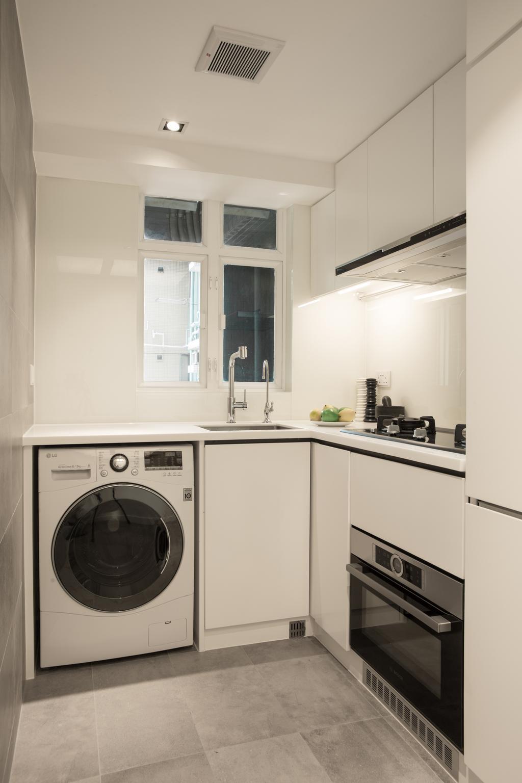 簡約, 私家樓, 廚房, 港麗豪園, 室內設計師, in Him's Interior Design, 北歐, Appliance, Electrical Device, Washer