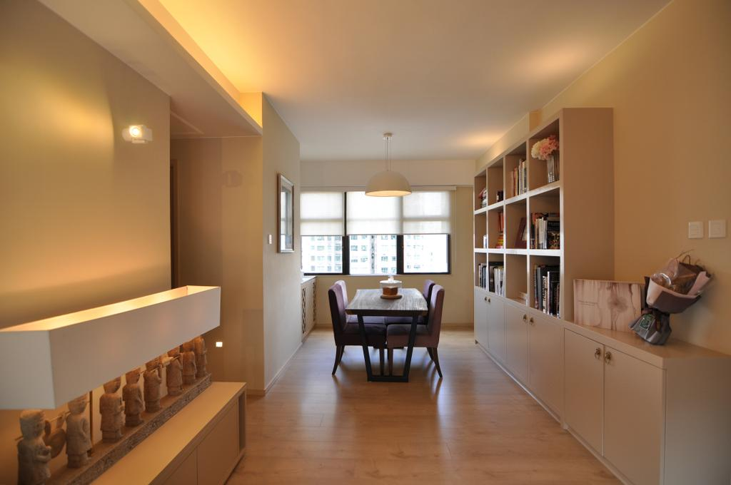 當代, 私家樓, 客廳, 巴丙頓道, 室內設計師, Mister Glory, 傳統, Dining Table, Furniture, Table, Banister, Handrail, Staircase