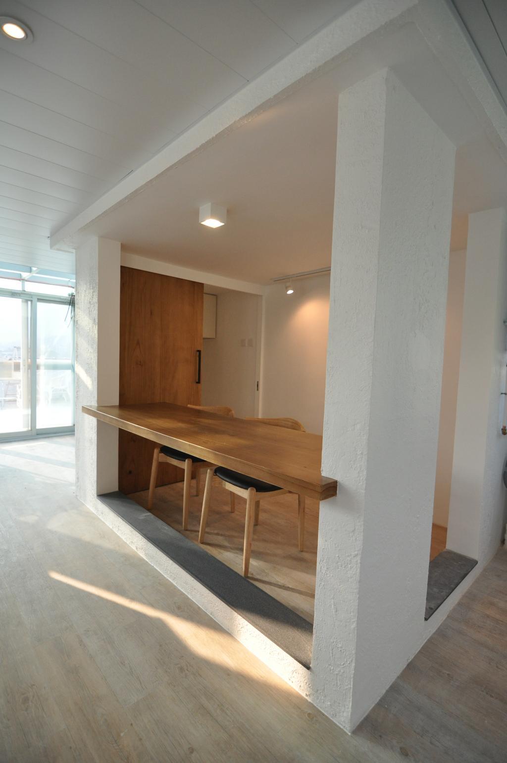 摩登, 獨立屋, 飯廳, 西貢, 室內設計師, Mister Glory, Plywood, Wood, Furniture, Dining Table, Table