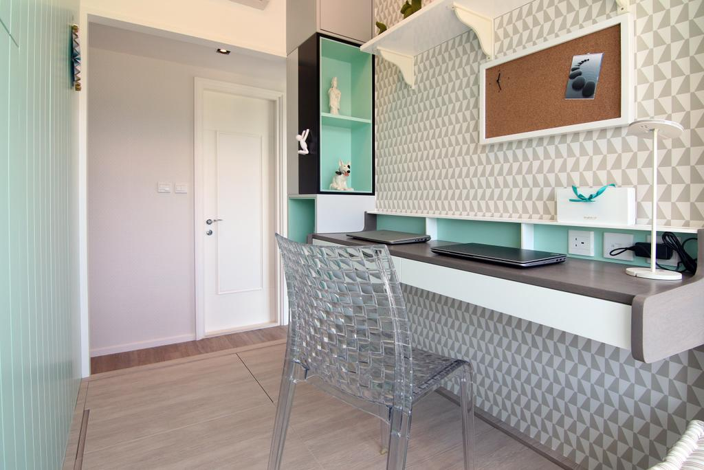 摩登, 私家樓, 書房, 嵐山, 室內設計師, Bel Concetto, 當代, Chair, Furniture