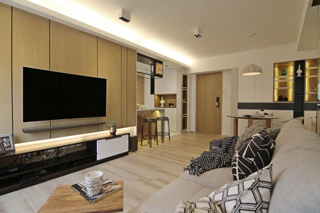 聚龍居, Bel Concetto, 客廳, 私家樓, Cup, Chair, Furniture
