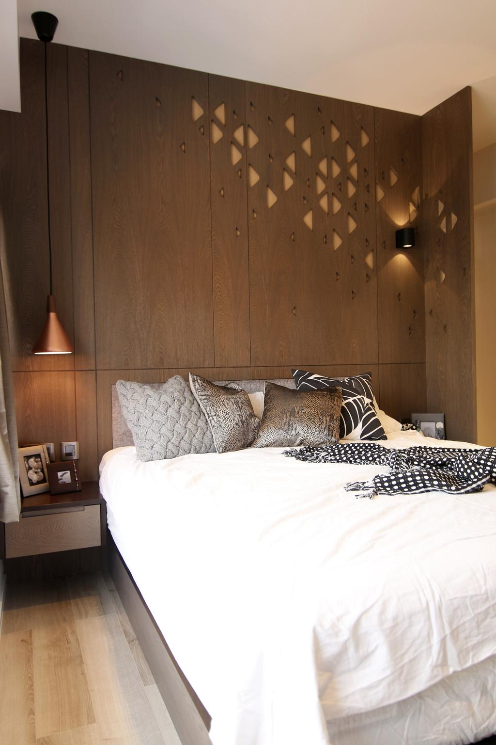 私家樓, 睡房, 聚龍居, 室內設計師, Bel Concetto, Bed, Furniture