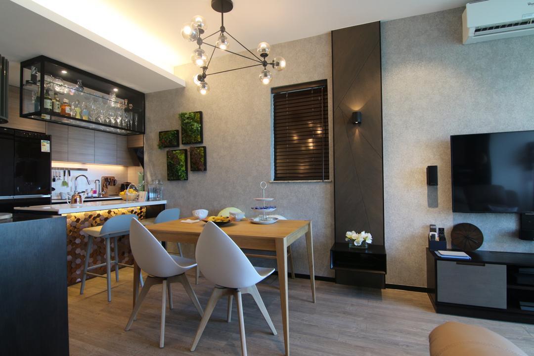 珀麗灣, Bel Concetto, 飯廳, 私家樓, Chair, Furniture, Air Conditioner, Dining Table, Table, Indoors, Interior Design, Room