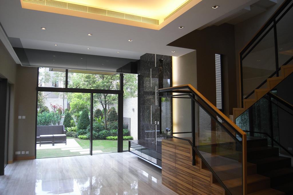 古典, 獨立屋, 客廳, 新界區住宅, 室內設計師, 皓室內設計, 傳統, 過渡時期, Banister, Handrail, Staircase, Architecture, Building, Skylight, Window, Park Bench