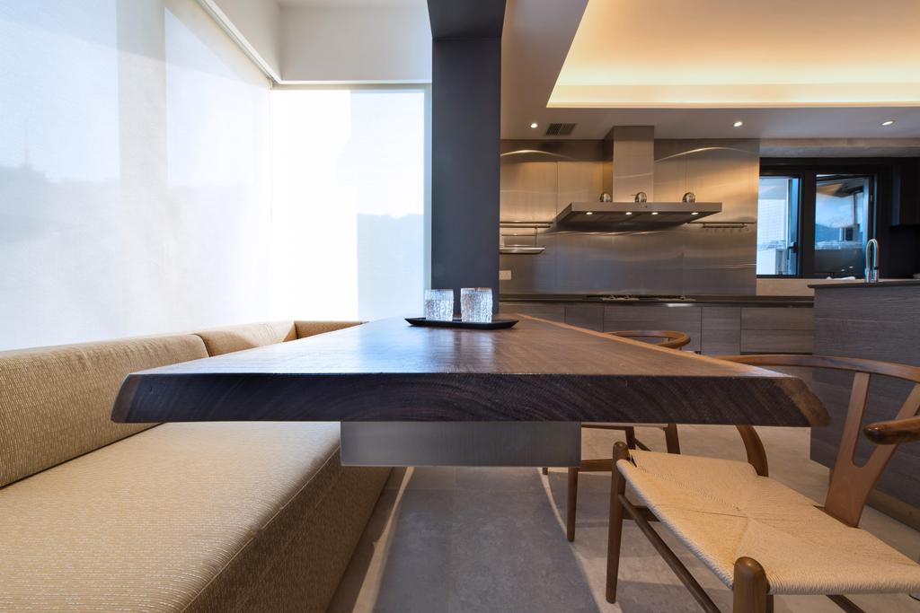 過渡時期, 私家樓, 飯廳, 半山區, 室內設計師, 皓室內設計, 古典, Dining Table, Furniture, Table, Plywood, Wood, Bench, Indoors, Interior Design, Coffee Table