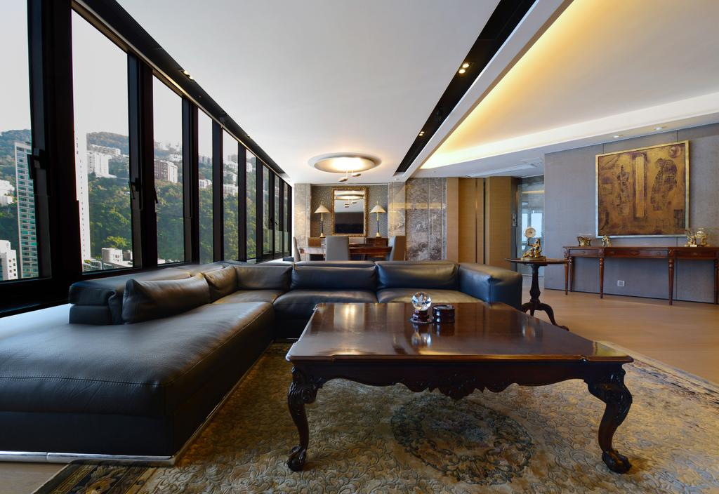 過渡時期, 私家樓, 客廳, 半山區, 室內設計師, 皓室內設計, 古典, Couch, Furniture, Dining Table, Table