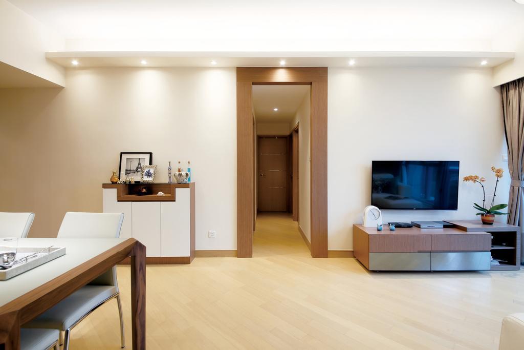 當代, 私家樓, 客廳, 溱岸8號, 室內設計師, Art Deco Design, Flooring, Chair, Furniture
