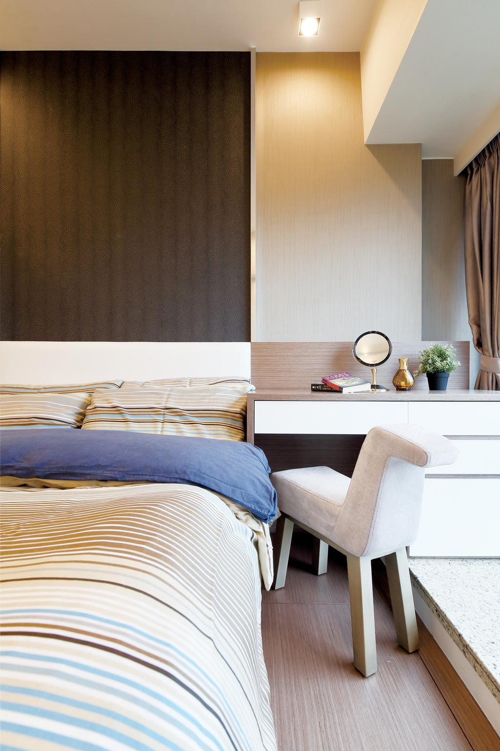 當代, 私家樓, 睡房, 溱岸8號, 室內設計師, Art Deco Design, Chair, Furniture