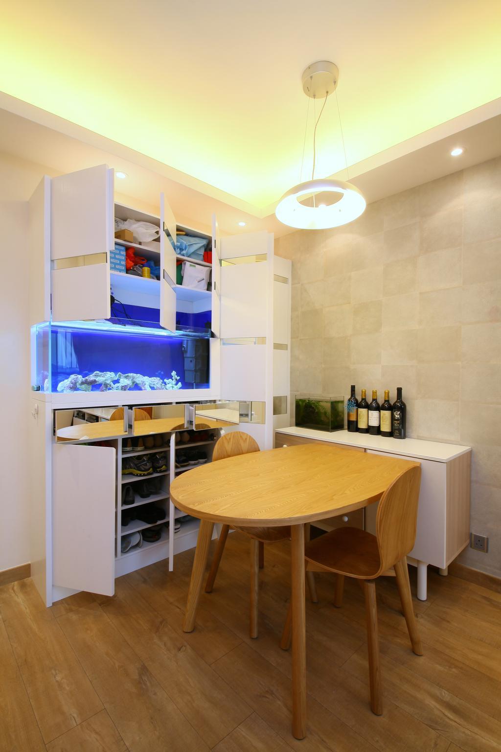 當代, 私家樓, 飯廳, 維景灣畔, 室內設計師, Art Deco Design, Plywood, Wood, Dining Table, Furniture, Table, Chair