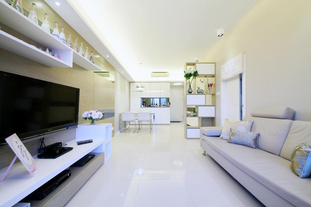 當代, 私家樓, 客廳, 銀湖.天峰, 室內設計師, Art Deco Design, Indoors, Interior Design