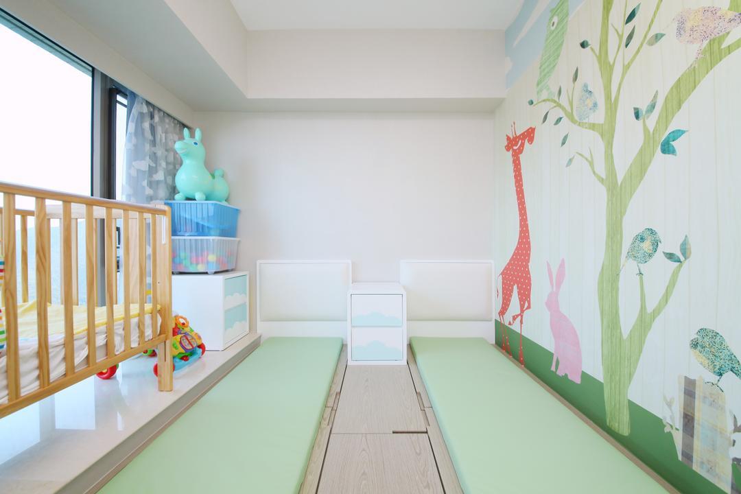 銀湖.天峰, Art Deco Design, 當代, 睡房, 私家樓, Indoors, Nursery, Room, Crib, Furniture, Paper, Cradle