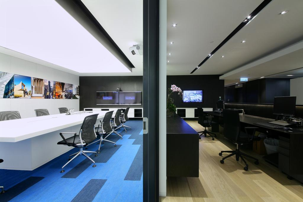 Woods Bagot-High, 商用, 室內設計師, 泛高設計事務所, 摩登, Conference Room, Indoors, Meeting Room, Room, Electronics, Entertainment Center, Home Theater, Chair, Furniture