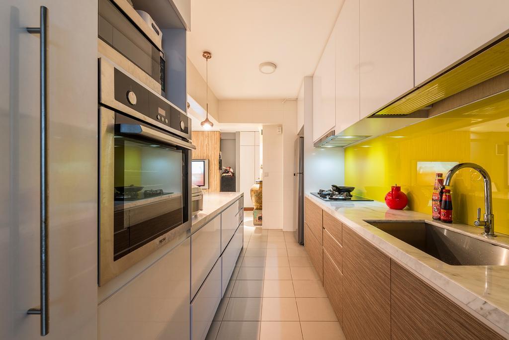 Modern, HDB, Kitchen, Blossom Spring, Interior Designer, Create