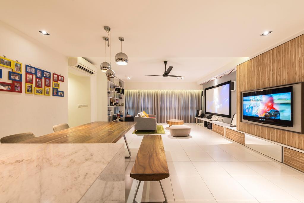 Modern, HDB, Dining Room, Blossom Spring, Interior Designer, Create, Plywood, Wood, Indoors, Interior Design, Flooring, Dining Table, Furniture, Table