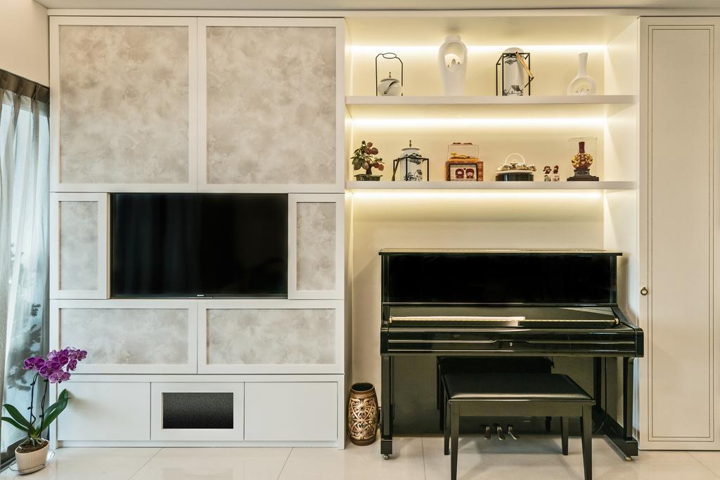 Traditional, HDB, Living Room, Trivista, Interior Designer, Mr Shopper Studio, Indoors, Interior Design, Fireplace, Hearth
