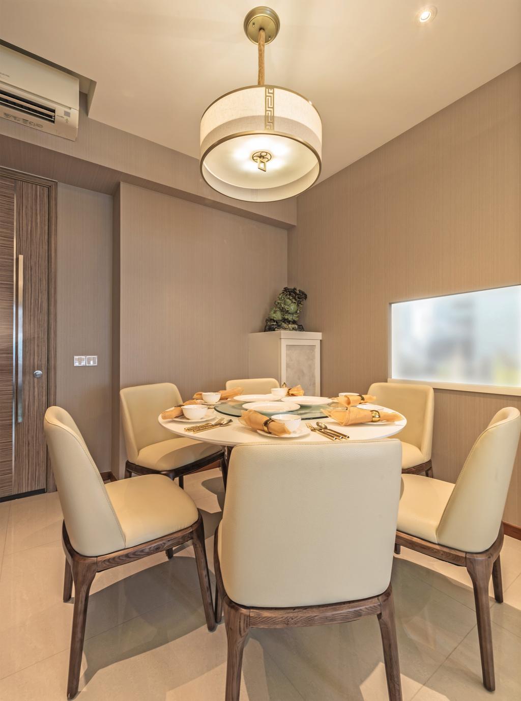 Traditional, HDB, Dining Room, Trivista, Interior Designer, Mr Shopper Studio, Indoors, Interior Design, Room, Chair, Furniture, Dining Table, Table