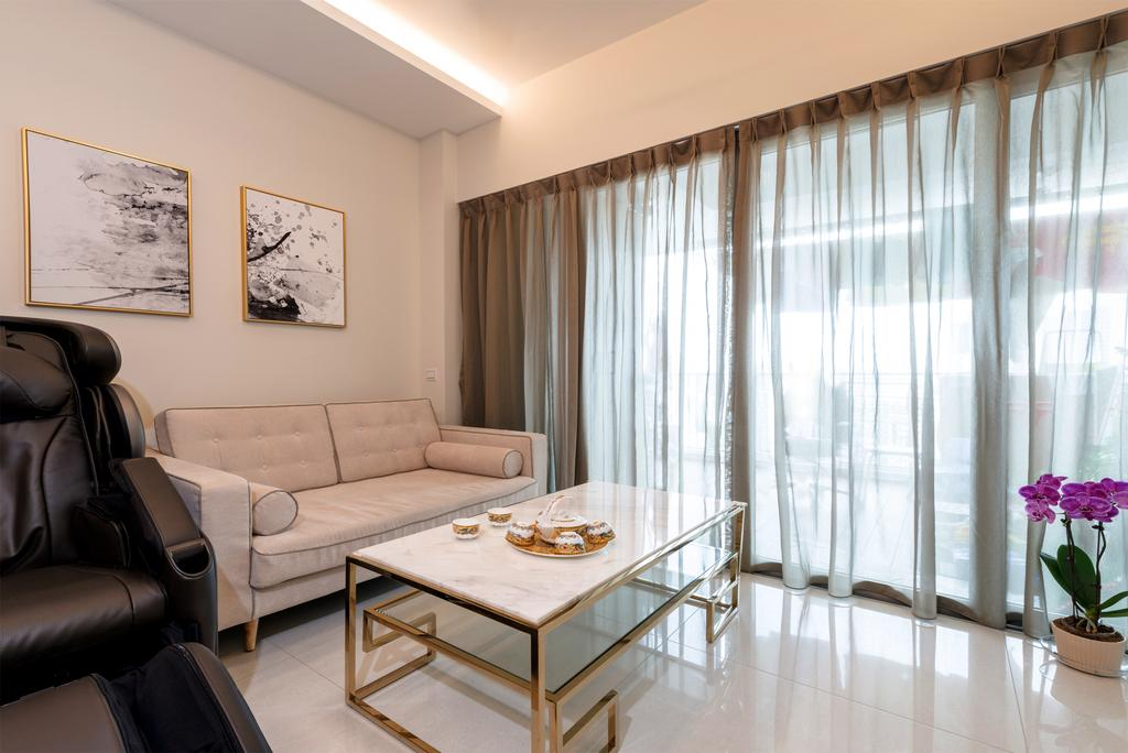 Traditional, HDB, Living Room, Trivista, Interior Designer, Mr Shopper Studio, Couch, Furniture, Chair, Indoors, Room