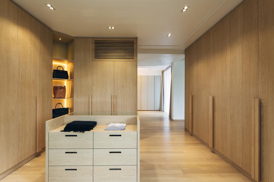 Bishopgate, Mr Shopper Studio, Contemporary, Bedroom, Landed, Walk In Wardrobe, Bag Storage, Bedroom Goals, Furniture, Drawer