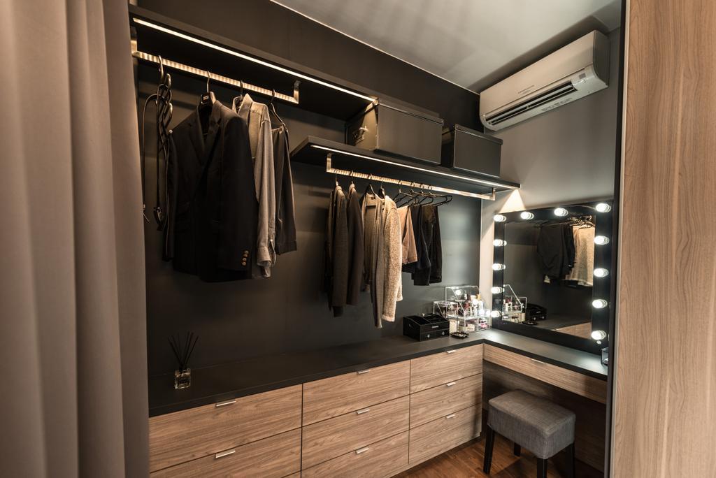 Scandinavian, Condo, Bedroom, Sea Horizon, Interior Designer, Mr Shopper Studio, Corridor