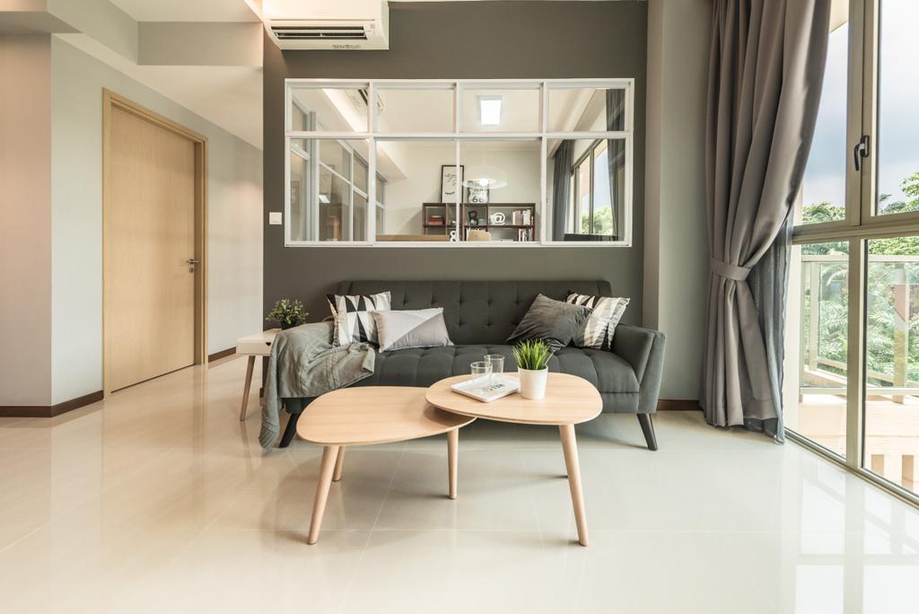 Scandinavian, Condo, Living Room, Sea Horizon, Interior Designer, Mr Shopper Studio, Coffee Table, Furniture, Table, Chair, Indoors, Room
