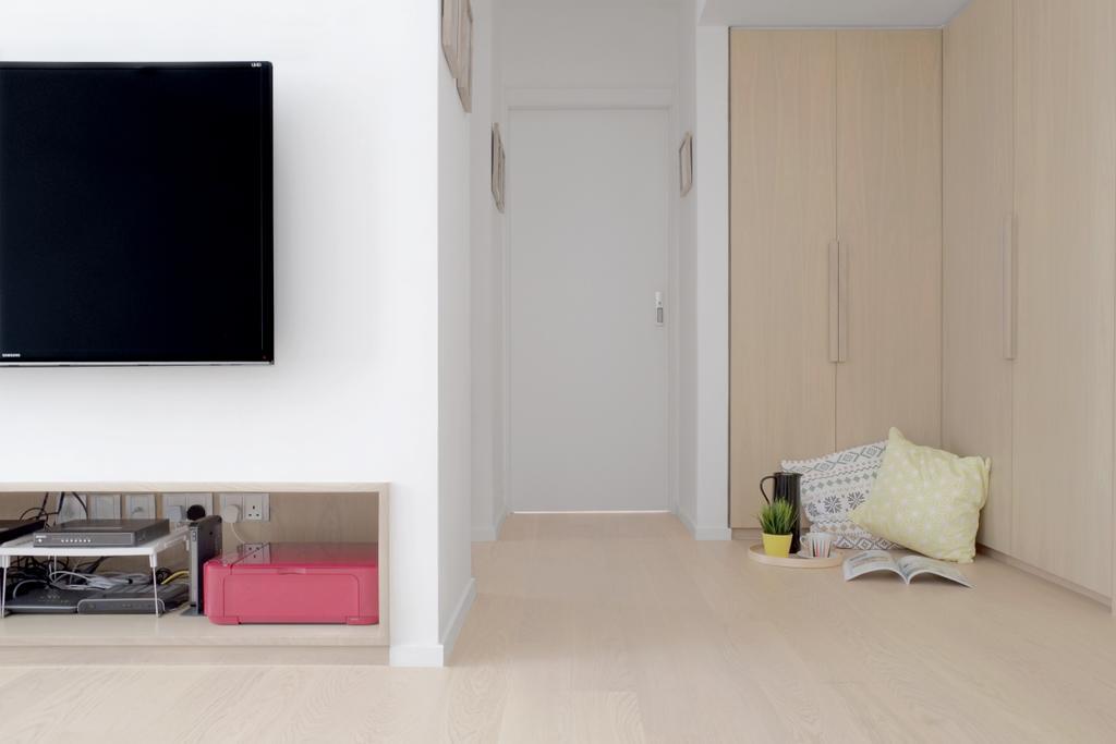 簡約, 私家樓, 客廳, 黃埔花園, 室內設計師, Studio Roof, Blackboard