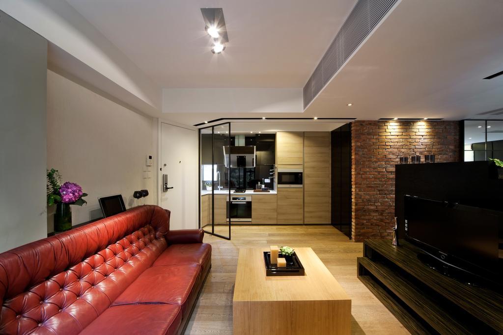 工業, 私家樓, 客廳, 干德道, 室內設計師, Deco Farmer Studio, Couch, Furniture